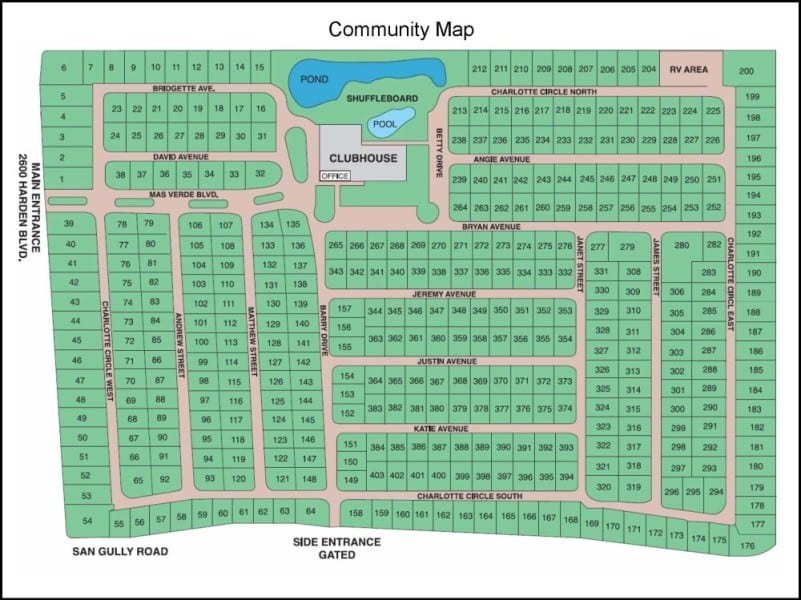 Kevin Branham - Mas Verde Map